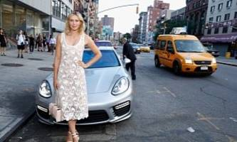 Maria Sharapova Attends Charity Event in Her Porsche Panamera Turbo
